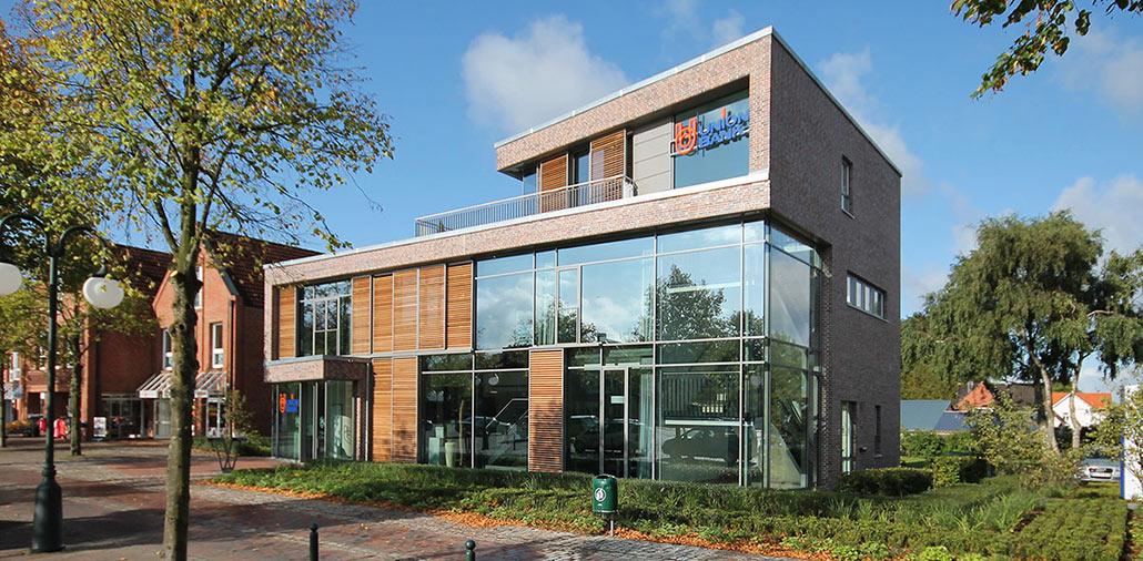 Neubau Union-Bank Harrislee, Vorderansicht