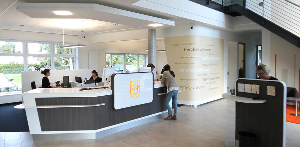 Neubau Union-Bank Harrislee, Ansicht Schalterhalle
