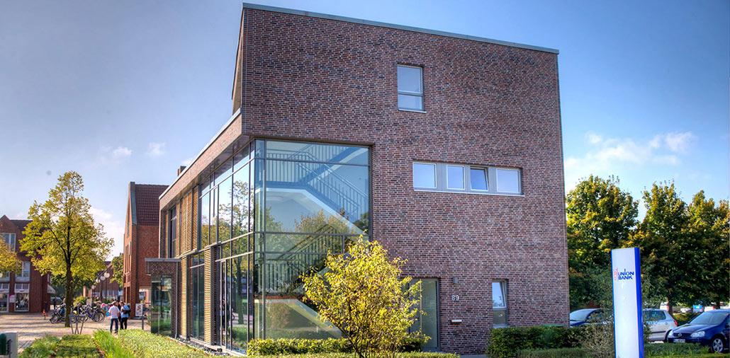 Neubau Union-Bank Harrislee, Seitenansicht