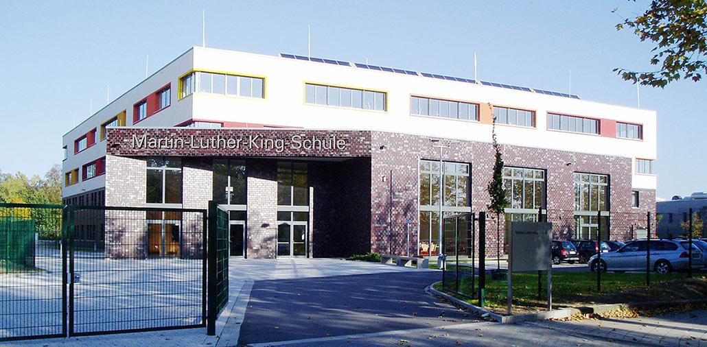 Neubau Hauptschule Velbert, Eingang