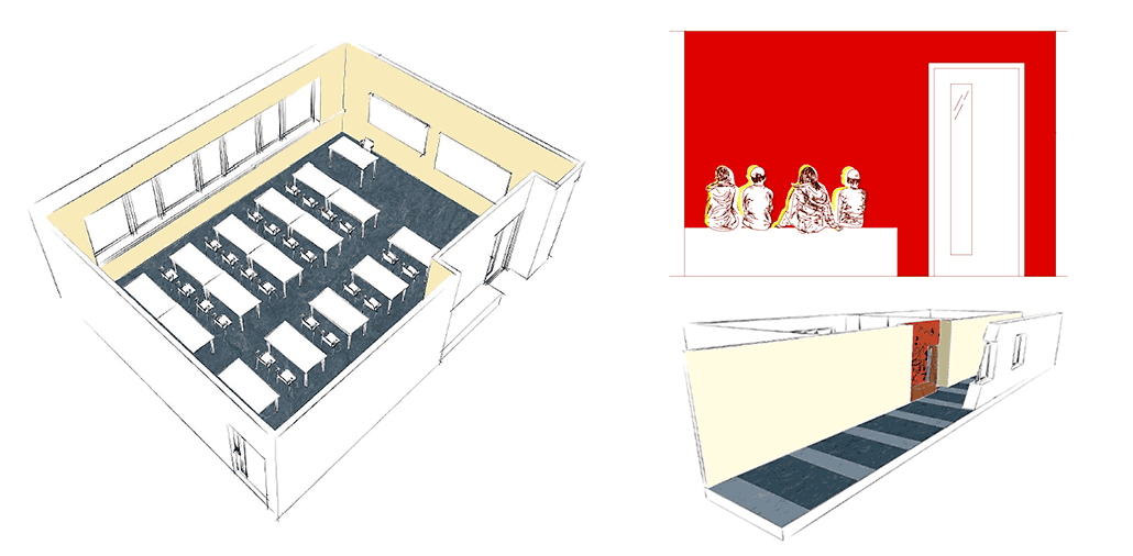 Neubau Hauptschule Velbert, Gestaltung und Ausstattung Klassenräume