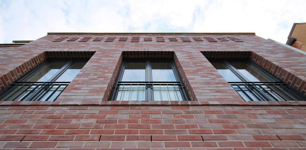 Neubau Volksbank-Filiale Wilster, Fassadendetail