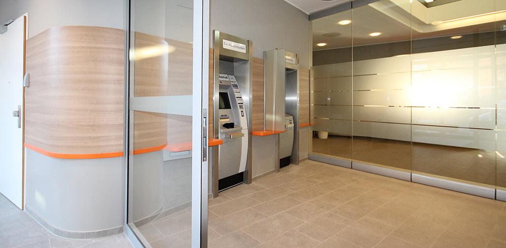 Neubau Volksbank-Filiale Wilster, SB-Bereich