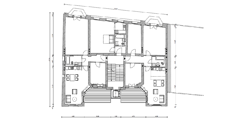 Sanierung und Umbau eines Wohnhauses in Berlin-Mitte, Grundriss