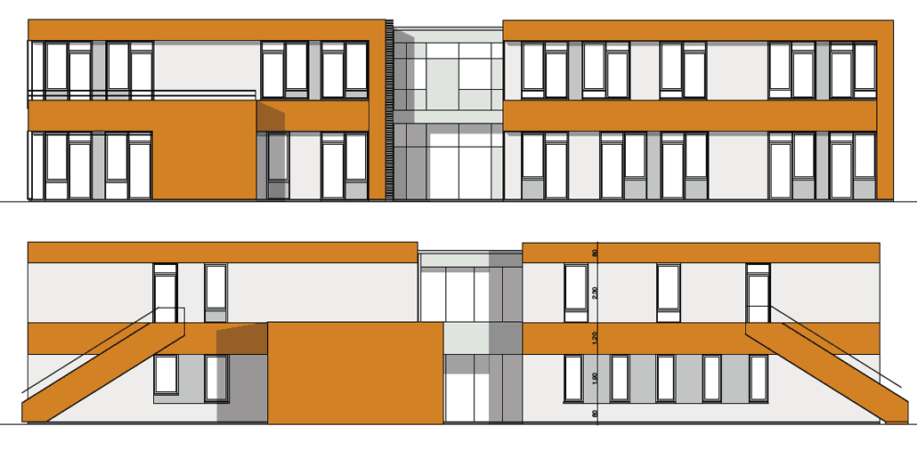 Ansichten, Kita-Neubau in Berlin-Bohndorf