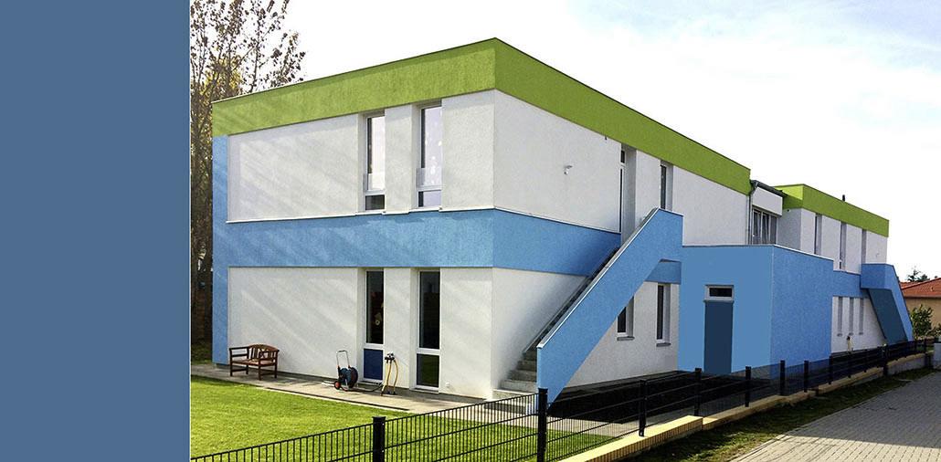 Nordansicht, Kita-Neubau in Berlin-Bohndorf