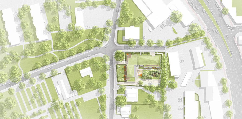 Lageplan, Mehrfamilienhaus in Hamburg Stellingen
