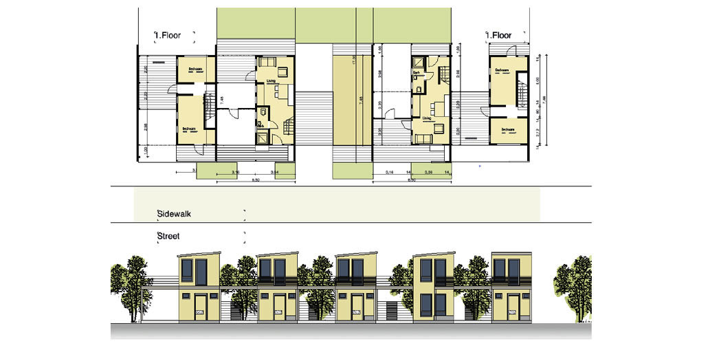 Typology for twostories RDP houses