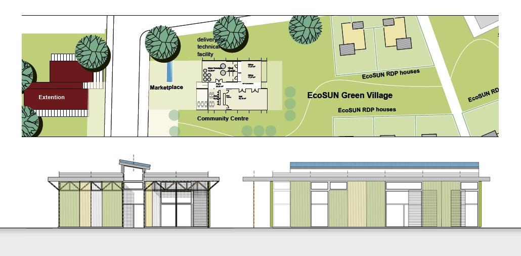 EcoSUN Community Center, Entwurf
