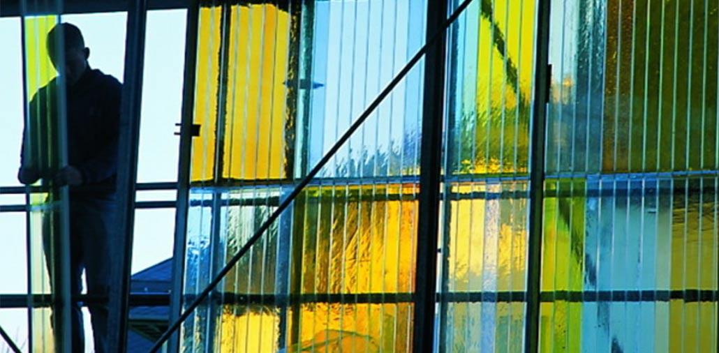 Beispiel farbige Doppelstegplatte