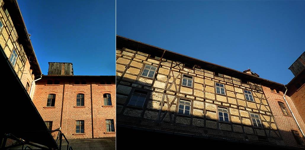 Seitenflügel und Hinterhaus der Malzfabrik Mühlhausen
