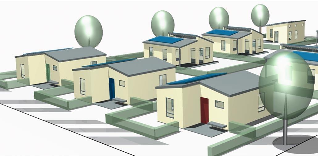Modell der RDP-Häuser des GREEN VILLAGE