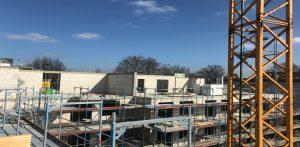 Der Betonbau des Mehrfamilienhauses in Hamburg-Stellingen steht zu 95%