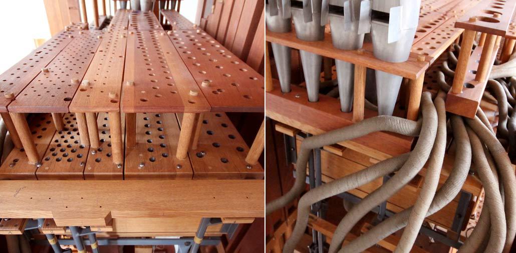 Aufbau der Orgel in der neuen Hasloher Kirche