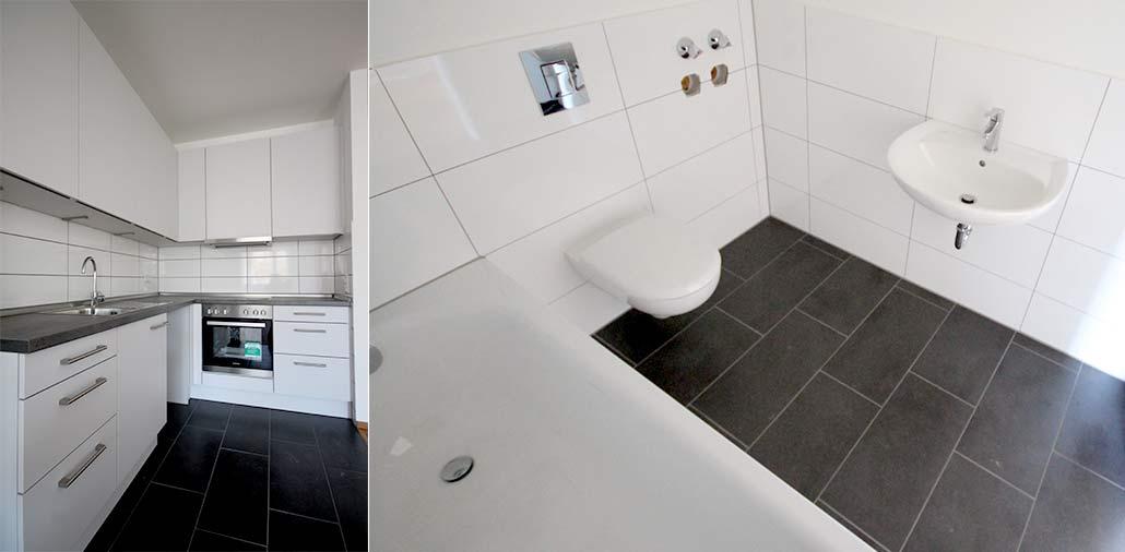 Mehrfamilienhaus in Hamburg Stellingen, Bad und Küche