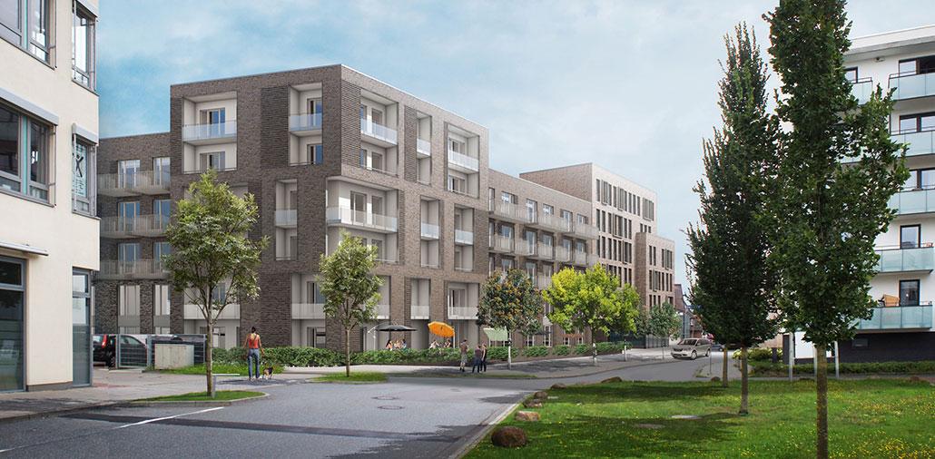 Rendering Mehrfamilienhaus in Hamburg-Bergedorf