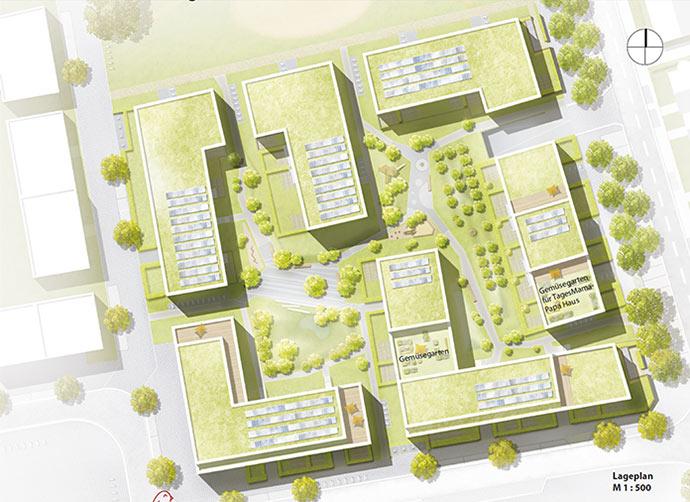 Dachnutzungskonzept für die Stadtgärten Stellingen