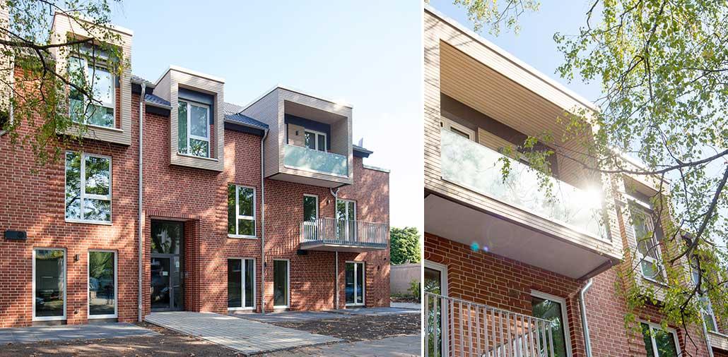 Lebendige Fassade durch vielgestaltige Erker und Balkone
