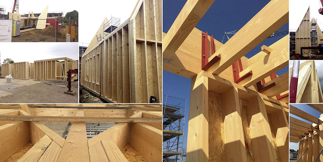 Die Kirche in Hasloh wurde als Holzbau errichtet