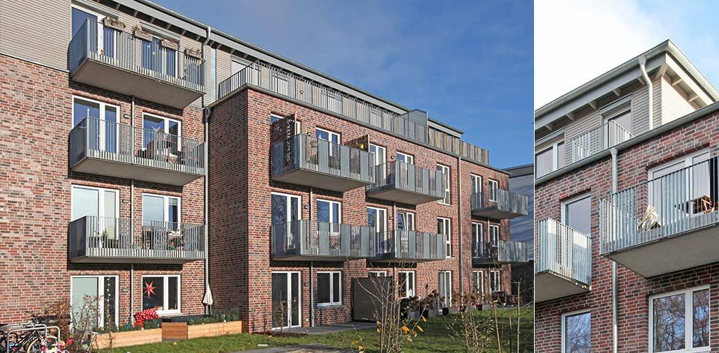 Mehrfamilienhaus in Hamburg Stellingen, Garten und Balkone