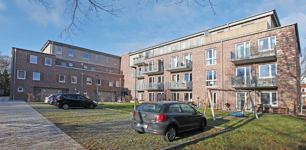 Mehrfamilienhaus in Hamburg Stellingen, Hofansicht