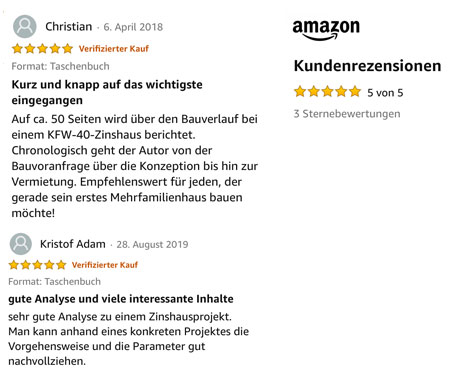 E-Book Rentables Mehrfamilienhaus Amazon-Bewertung