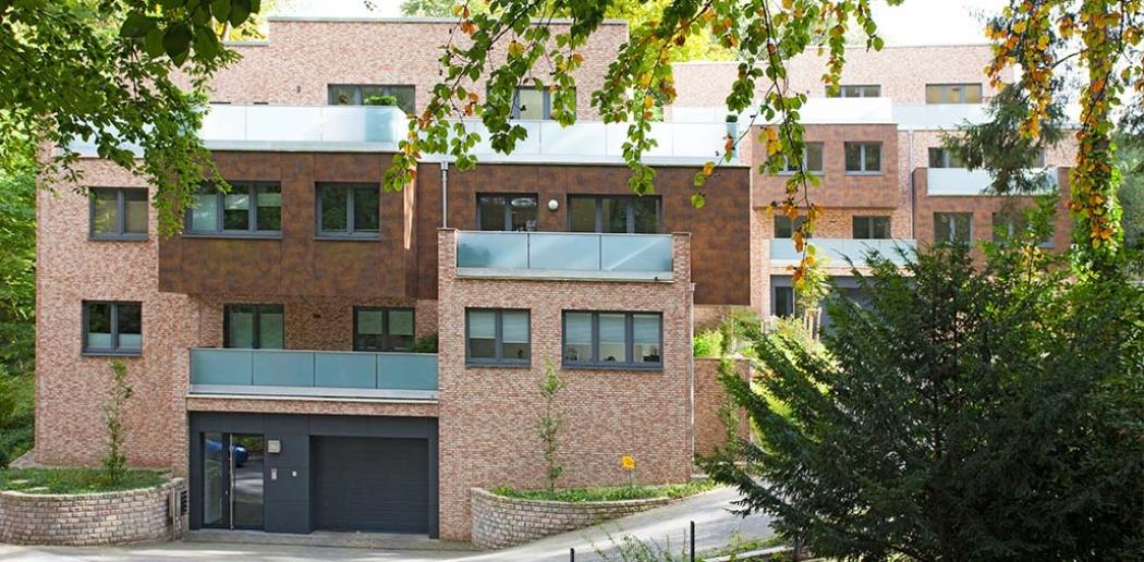Terrassenhäuser in Hamburg Eissendorf, Eingangssituation