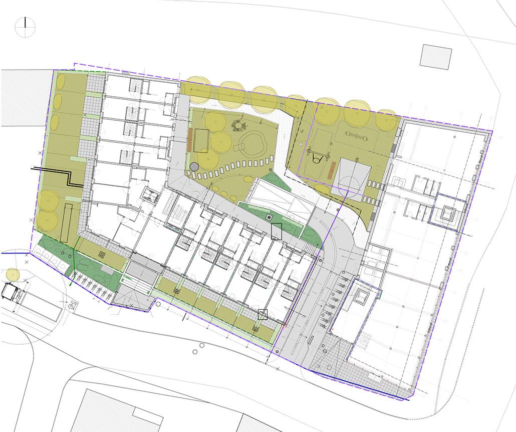 Lageplan für Wohn- und Gewerbebau in Hamburg Bergedorf