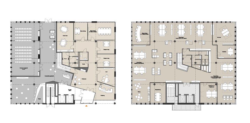 Grundrisse Erdgeschoss und 1. Obergeschoss