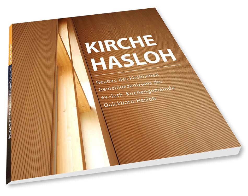 Holzbau-Buch über die Kirche und Gemeindezentrum in Hasloh