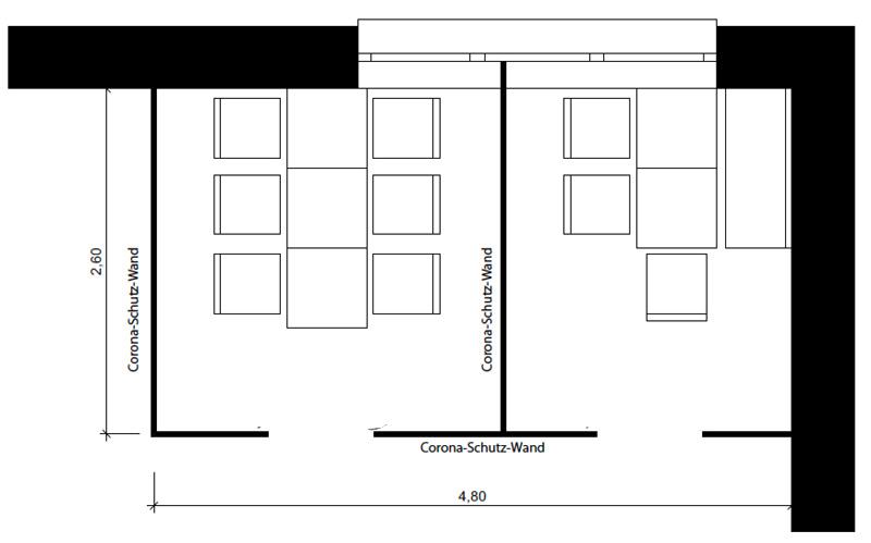Grundriss eines Familienzimmers