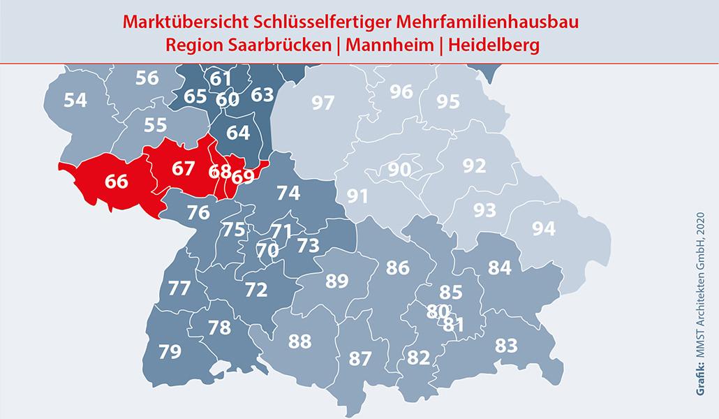Bauunternehmen Region Mannheim, Heidelberg und Saarbrücken – Mehrfamilienhaus