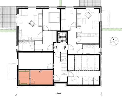 Grundriss KG Mehrfamilienhaus