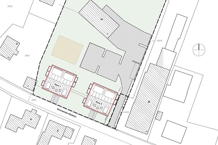 Lageplan Mehrfamilienhaus mit 20 Wohnungen