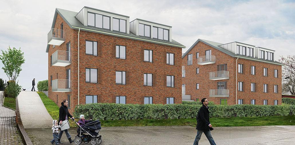 Neubau von 2 Mehrfamilienhaäusern mit 20 Wohnungen