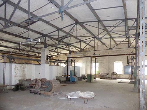 Sanierung der denkmalgeschützten Papierfabrik Hohenofen, Bestandsfoto Bleiche
