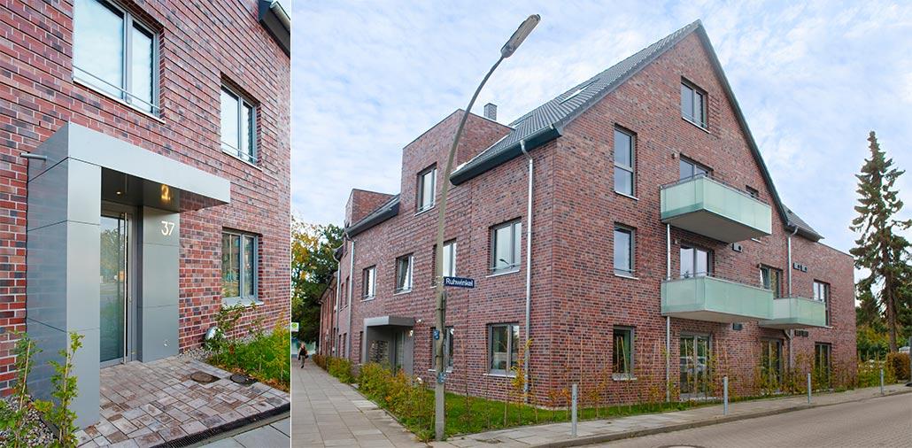 Eingangsbereich Mehrfamilienhausneubau mit 15 Wohnungen