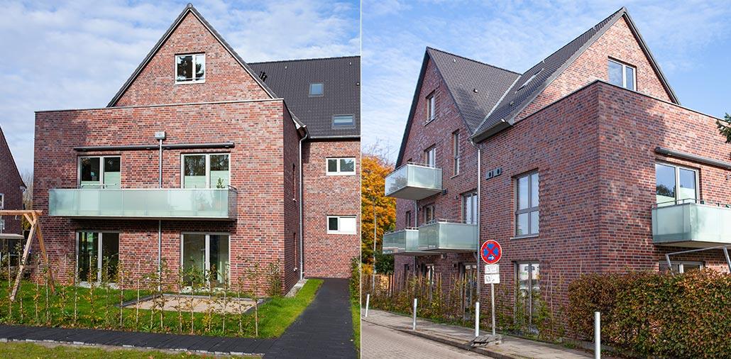 Gartenansicht Mehrfamilienhaus mit 15 Wohnungen